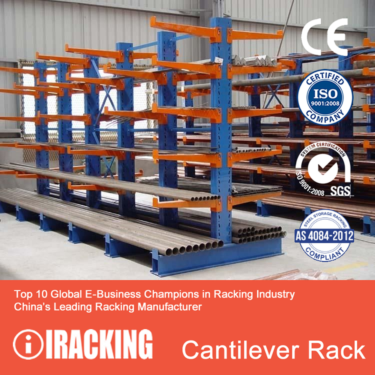 used california picture pallet cantilever orange orig racks warehouse rack